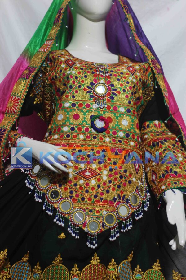 Afghan Dress- Traditional Frock - Afghani Frock Full size Black