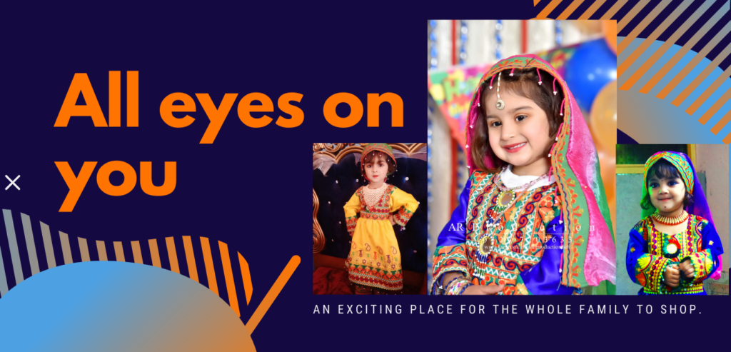 Afghani dress- Traditional dress- kids dress